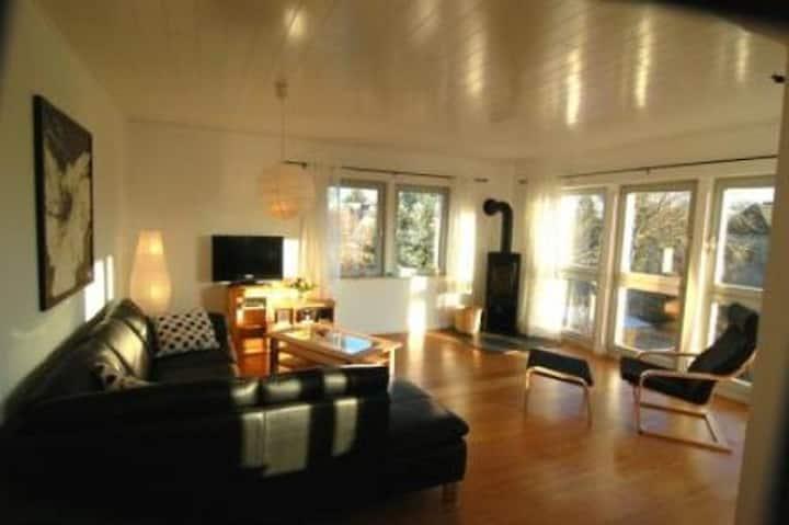 Luxus-Apartment ELBLUST Blick zur Elbe mit Loggia