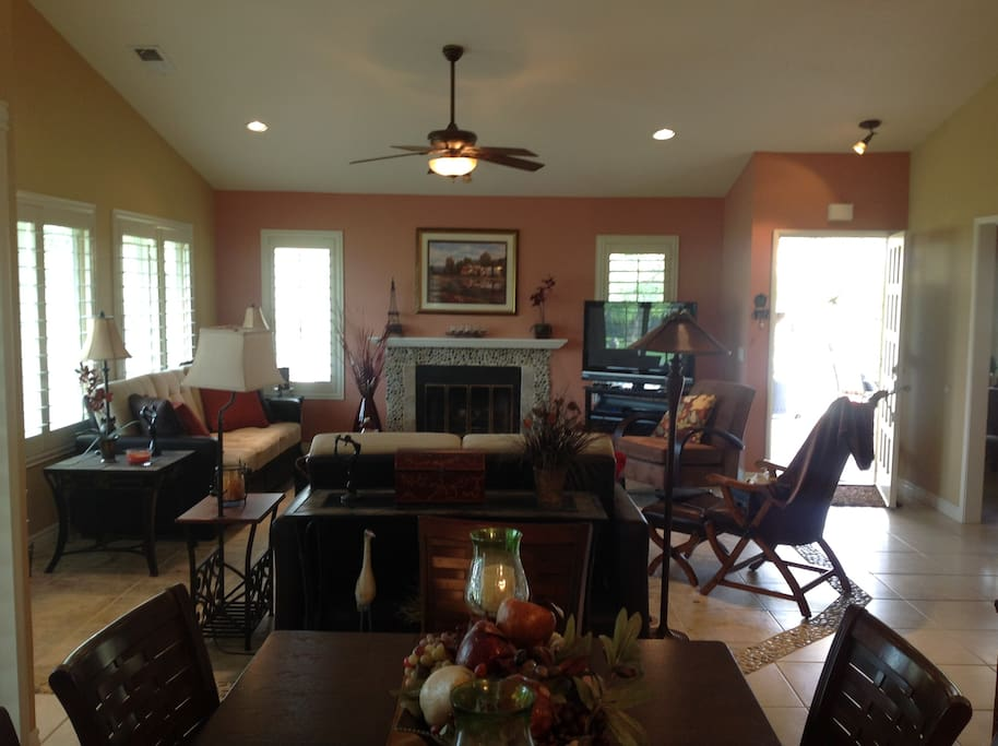 Spacious living room with separate formal dining room (not pictured)