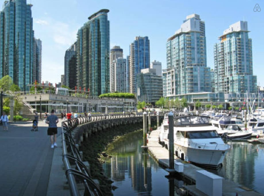 Coal harbour marina. The building is the one to the left.