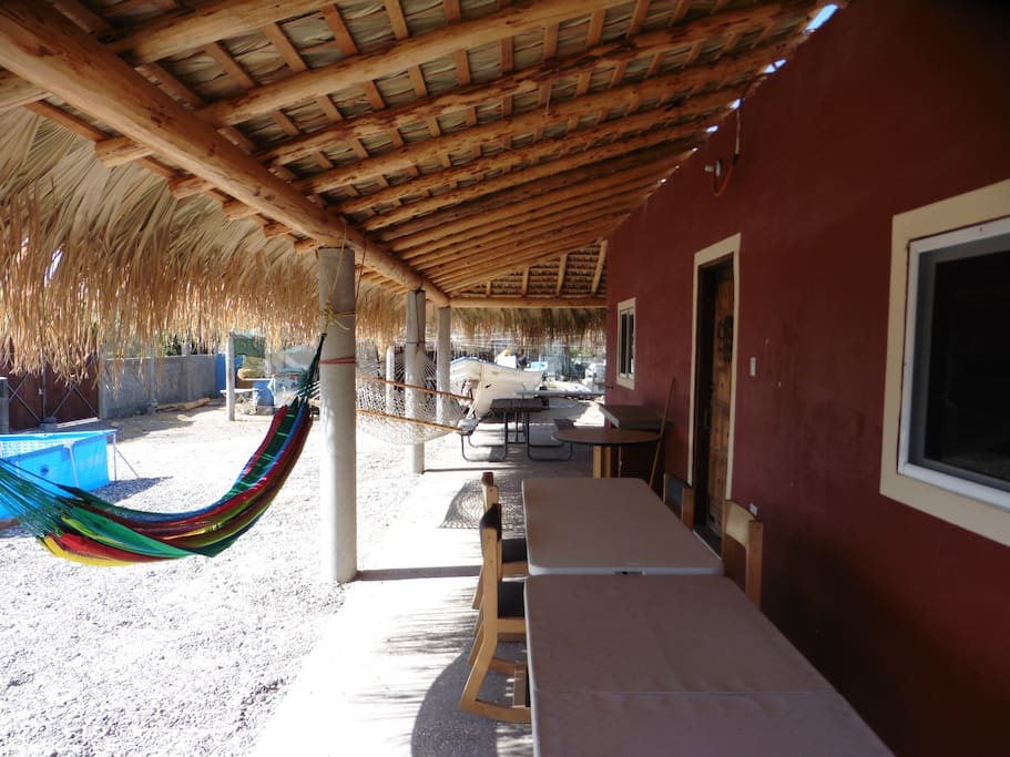 NIce palapa for a shady hangout area