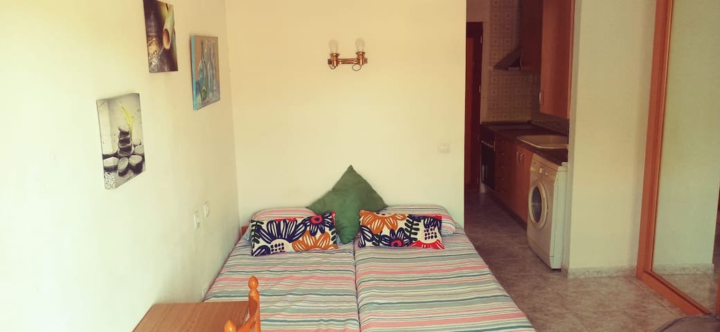 Full equiped room for two in front of the beach