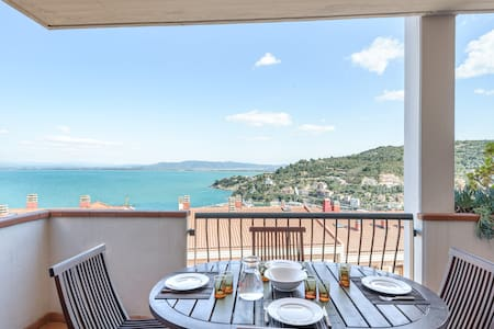 Terrace with sea view - Garage - Porto Santo Stefano