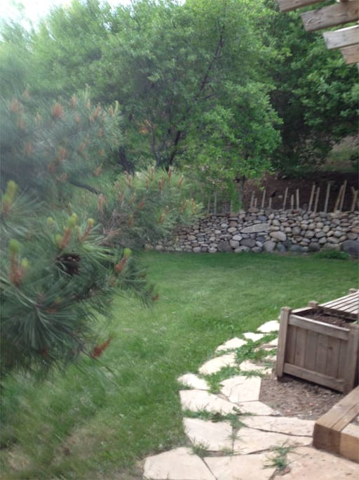 Back yard at the Bunky