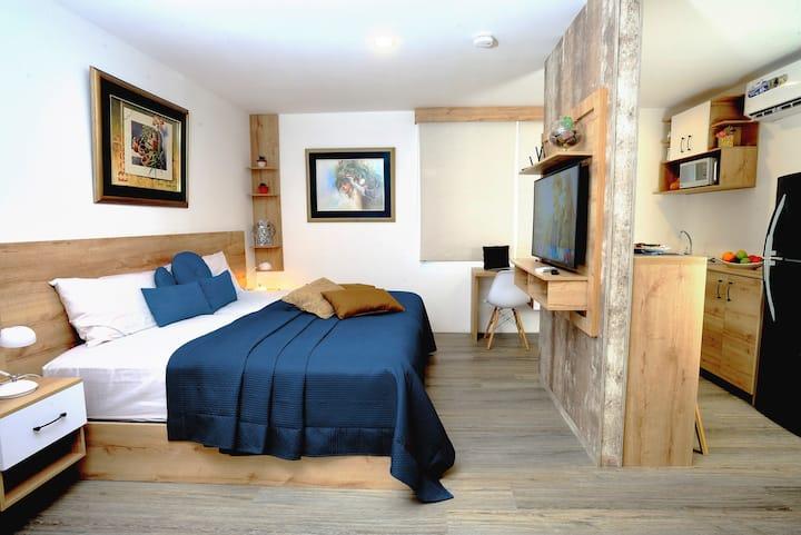 Moderna suite en excelente ubicación.