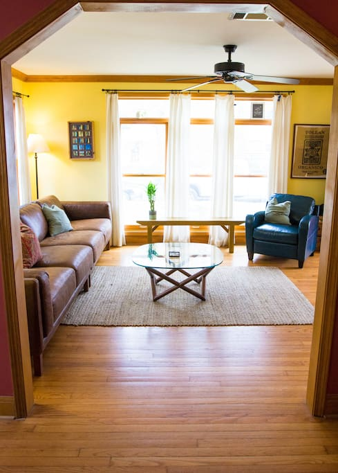 living room - large windows let in tons of natural light