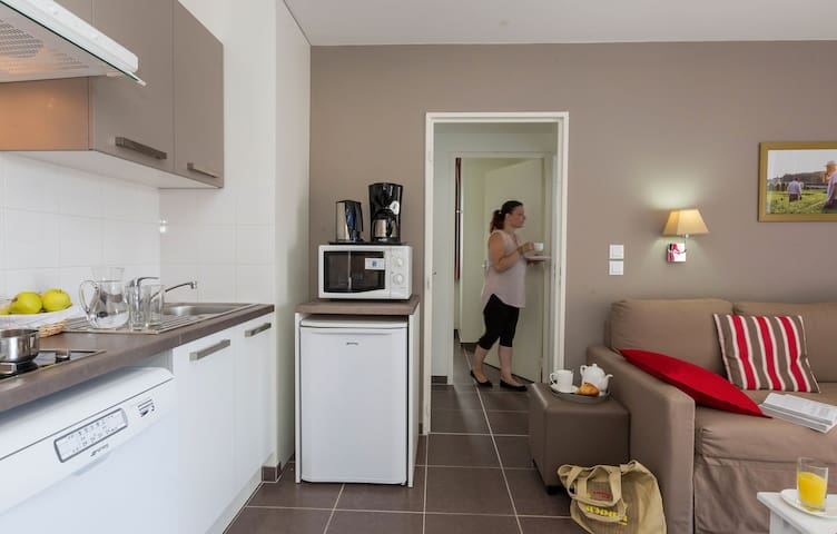 Cook meals in the kitchenette with all of the amenities you need!