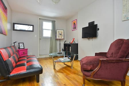 It's comfy. It's hip. It's 100% New York. Bed, futon, kitchen, and bathroom. In the winter, the steam heat can be LOUD, but with Downtown BK, two bridges, the river, and DUMBO as your neighbors, it's cool. Oh, Manhattan is a 20 minute walk away.