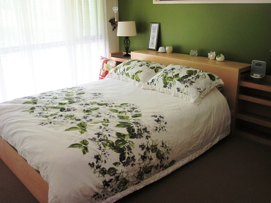 Queensize Bed in your private room.