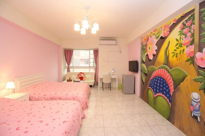 4 person room, near MRT / Train   - Zuoying District - Bed & Breakfast