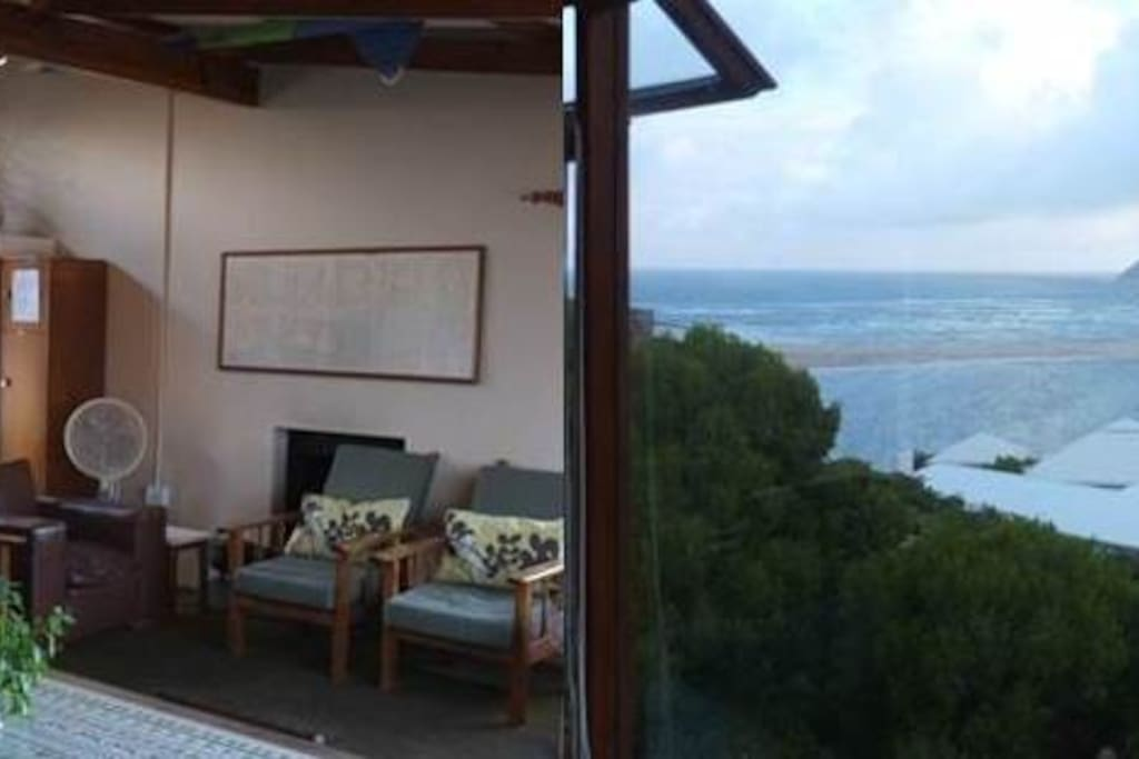Enjoy views from lounge and dining area of river, sea, kite surfers & fishermen
