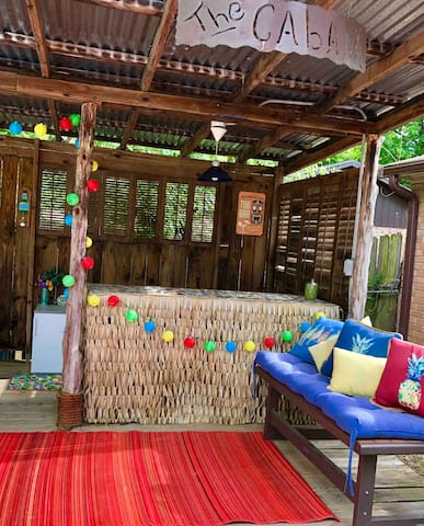 The Cabana is the perfect spot to duck out of the sun and grab a beverage