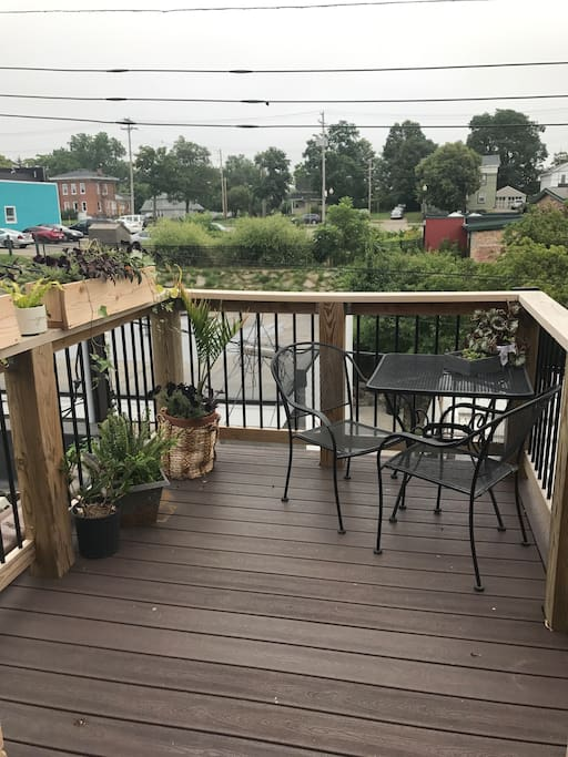 Private deck overlooking old town