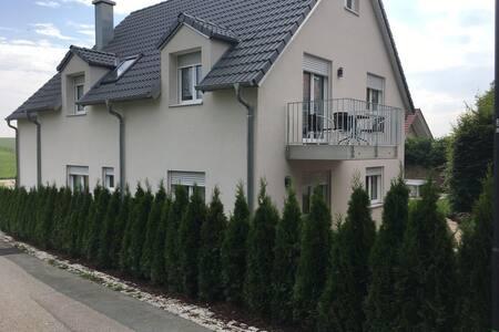 Neu erbaute komfortable Erdgeschosswohnung mit Fußbodenheizung und schöner Terasse