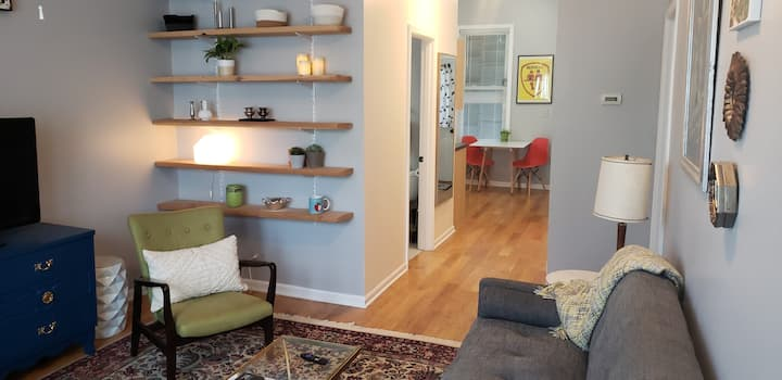 Cool but Comfy First Floor in hoppin' Logan Square