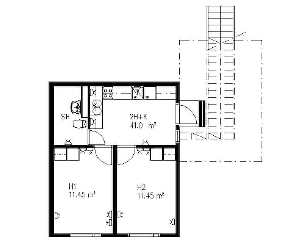 Небольшая квартирка в районе Вантаа - Vantaa - Leilighet