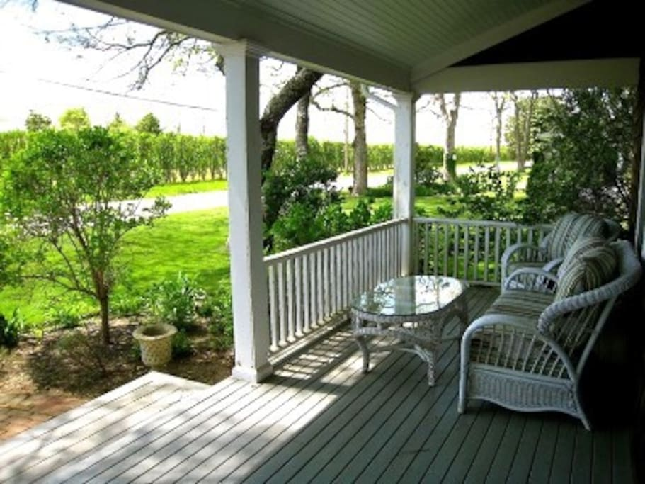 Wraparound Porch facing Country Lane and Beautiful Sunsets