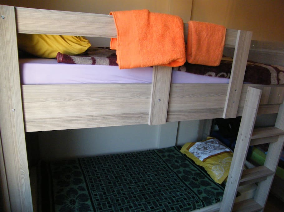 Heated bedrooms with Bunk beds economical and clean
