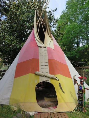 Your tepee near Beaujolais gates