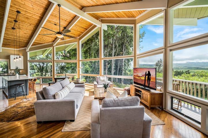 Modern Upcountry Home with Mauna Kea Views