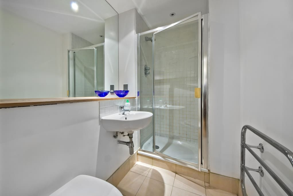 This is your own private en-suite bathroom. Toiletries are provided as shown in the photos.
