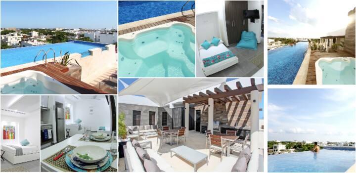 Lovely studio Jacuzzi Pool Near Mamita's Beach