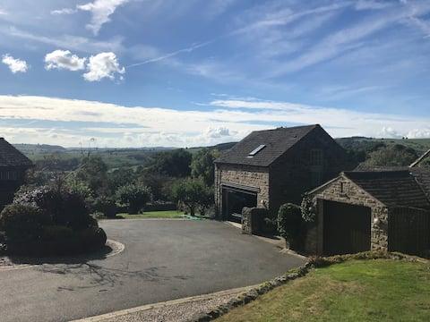 Studio-leilighet i Curbar: Derbyshire-hjem med utsikt
