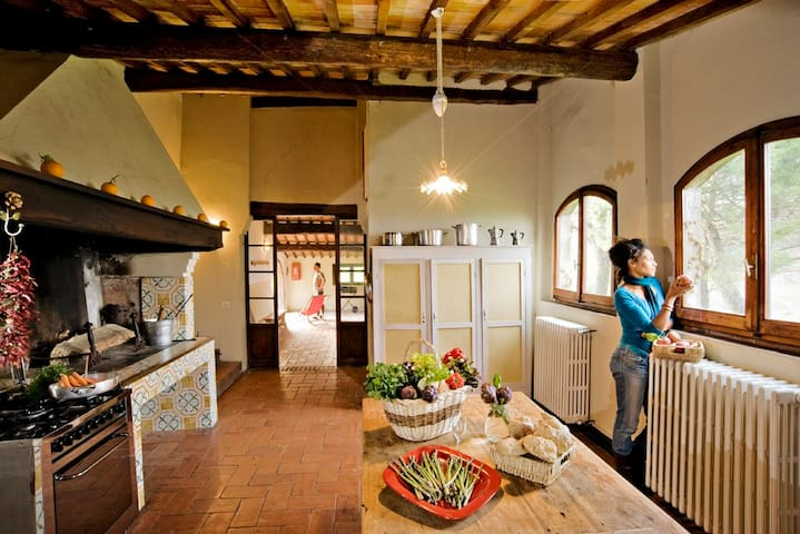 Spacious tuscan villa in organic farm - Montaione - Casa