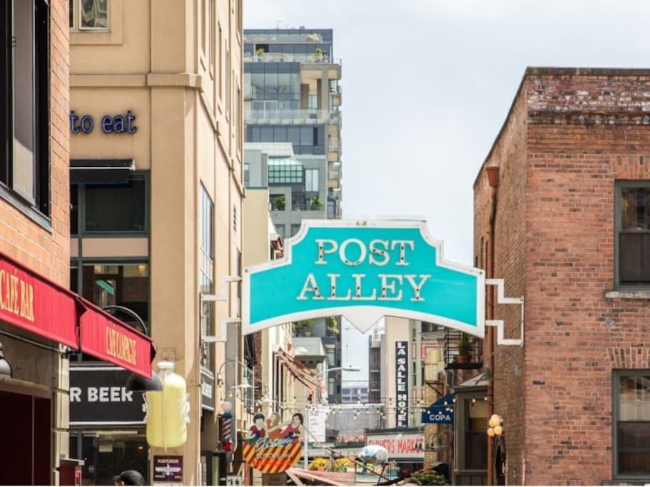 Post Alley is just around the corner