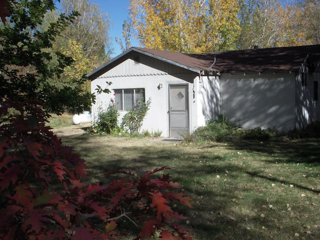 Gram's house with a large back yard, too, with a horse pasture in the back!  Great for recreational equipment!