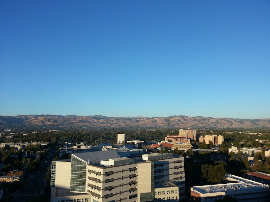 If you want to stay in San Jose, there is no better view, right at your window!