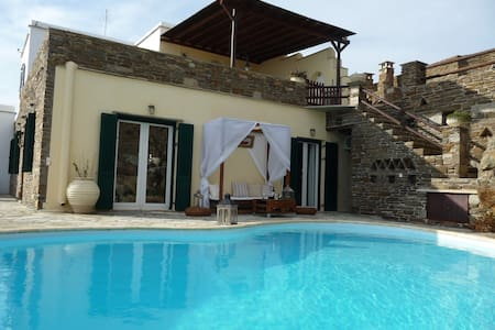 Aegean View Tinos (villa with seaside pool) - Tinos - วิลล่า