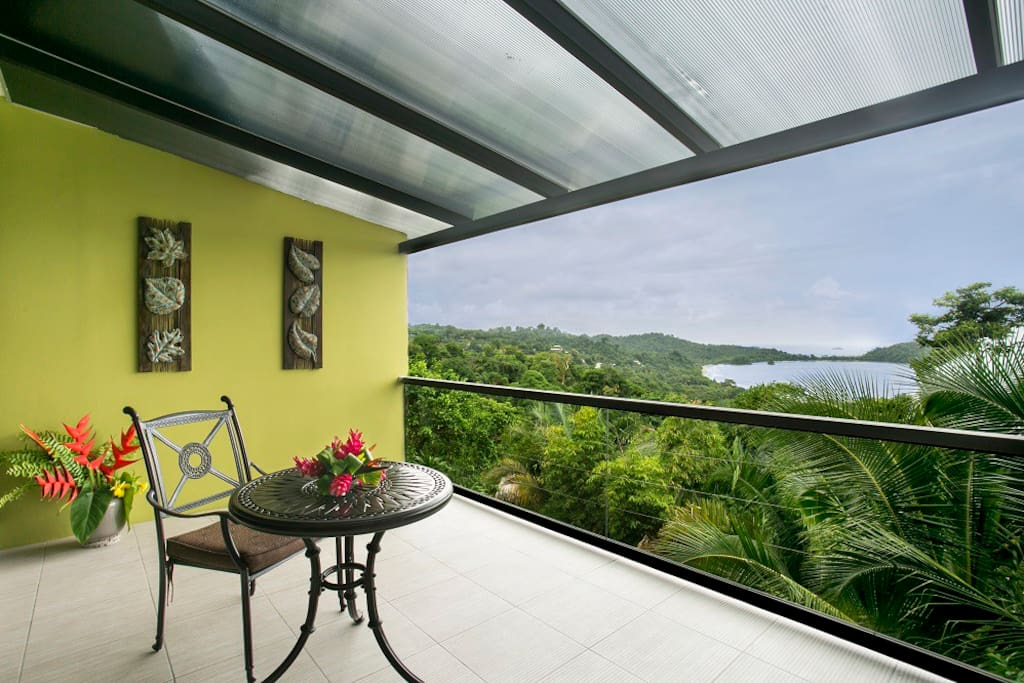 Another view of our gorgeous balcony with breathtaking views of the Pacific Ocean!