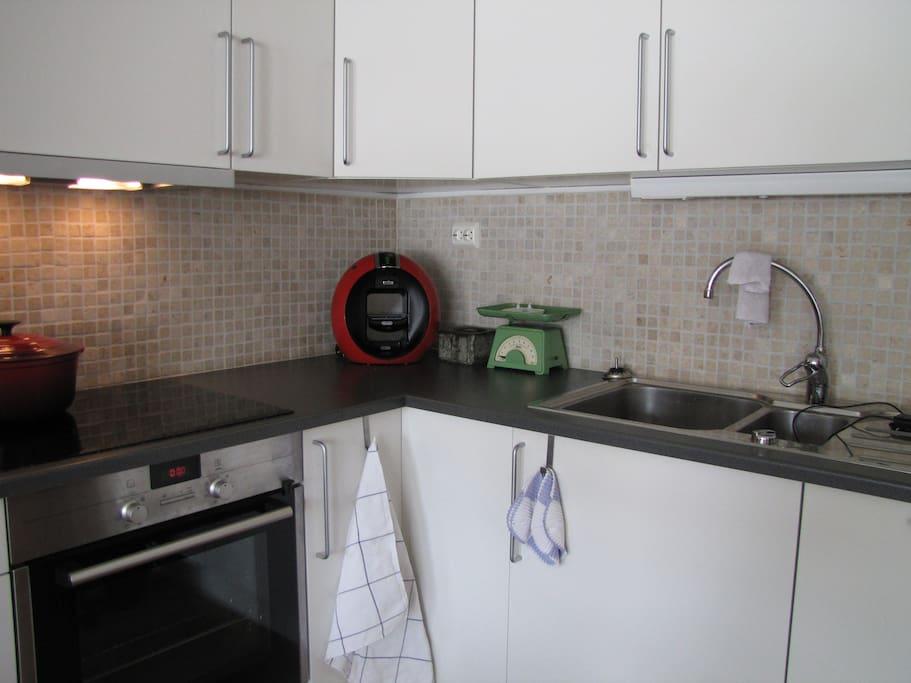 Kjøkkenkrok i stue