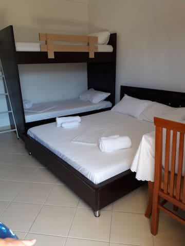 Spacious bedroom for you to enjoy your holidays. Welcome!