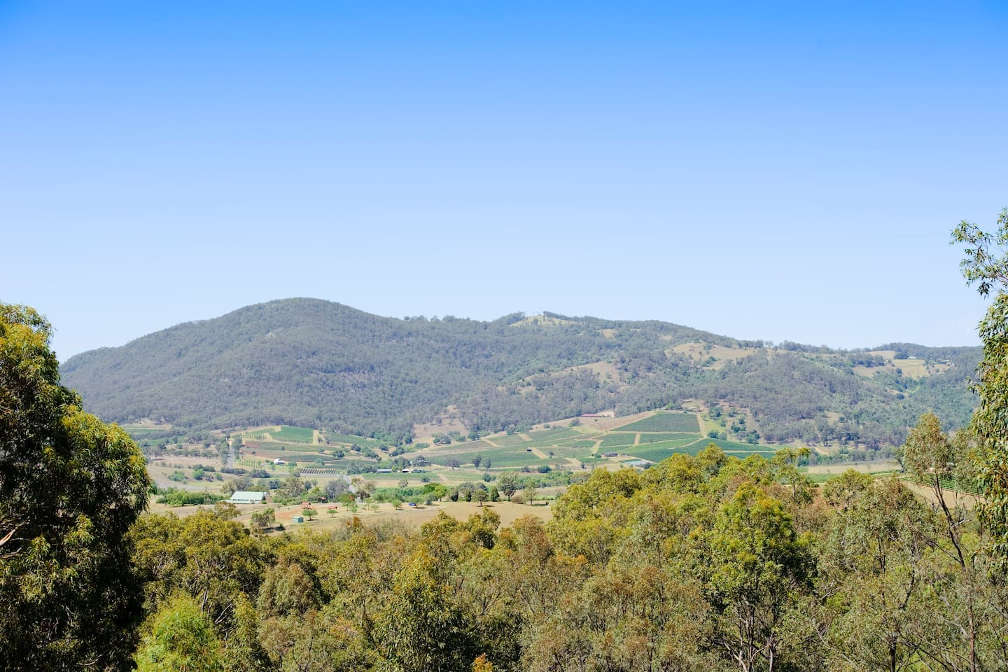 Extensive views of  the surrounding countryside