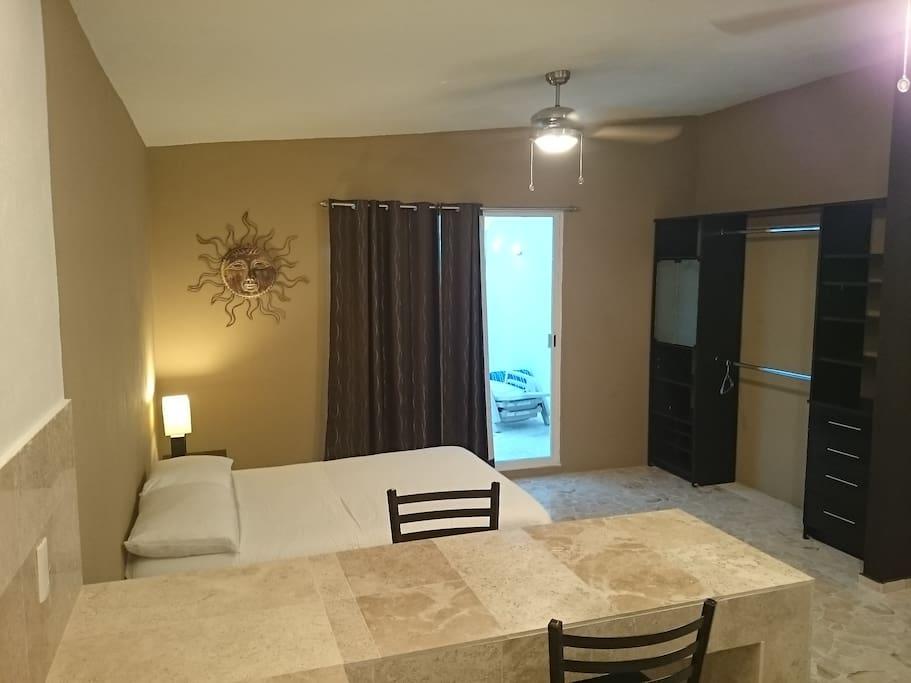 Room . Marmol table. Sunny Terrace .