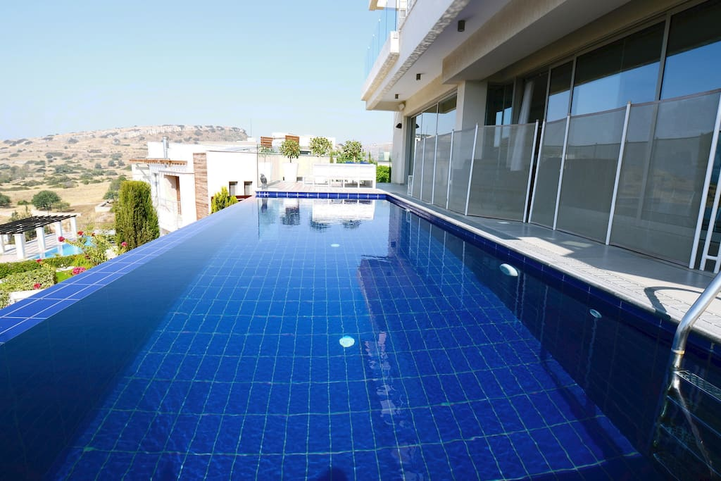 Dive into the infinity pool