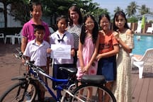 100 Reviews for 1 Bike the first Bicycle Donation for Student 4 Jan, 2015
