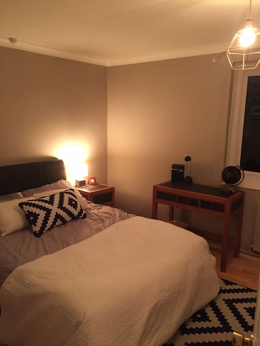 Master double bedroom - with plenty of wardrobe and a large TV