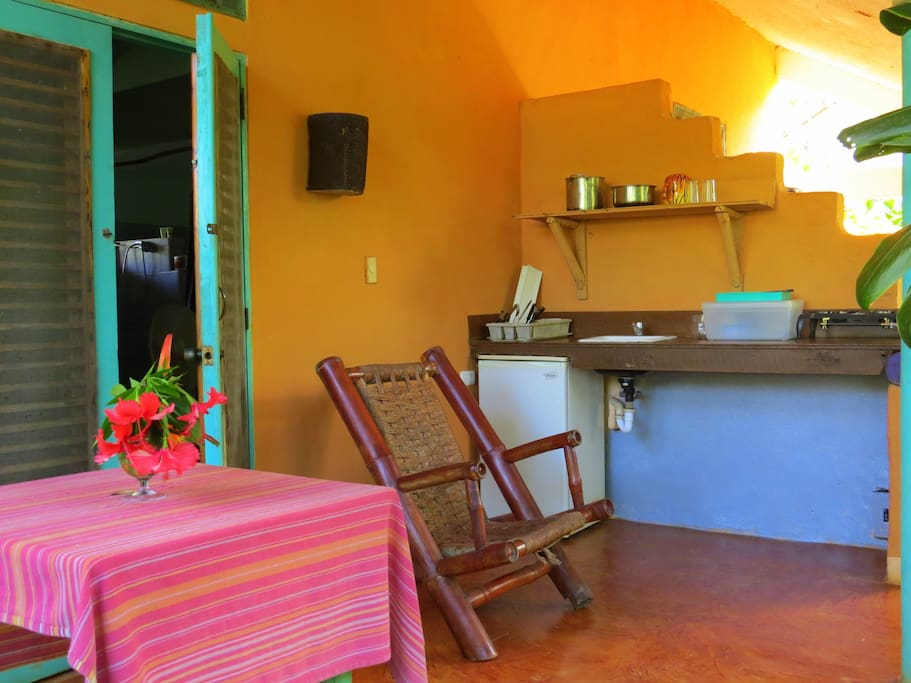 Patio with kitchenette