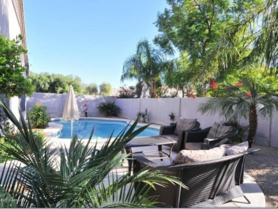 Enjoy the AZ sun by the private pool