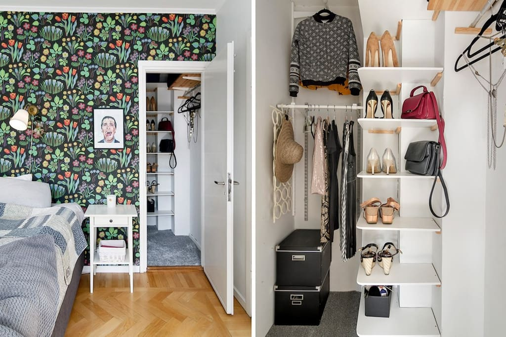 Walk in closet and entry to extra bedroom