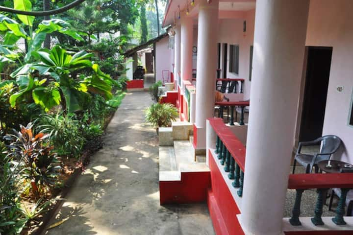 Omkar guest House Mango tree view room AC room 1