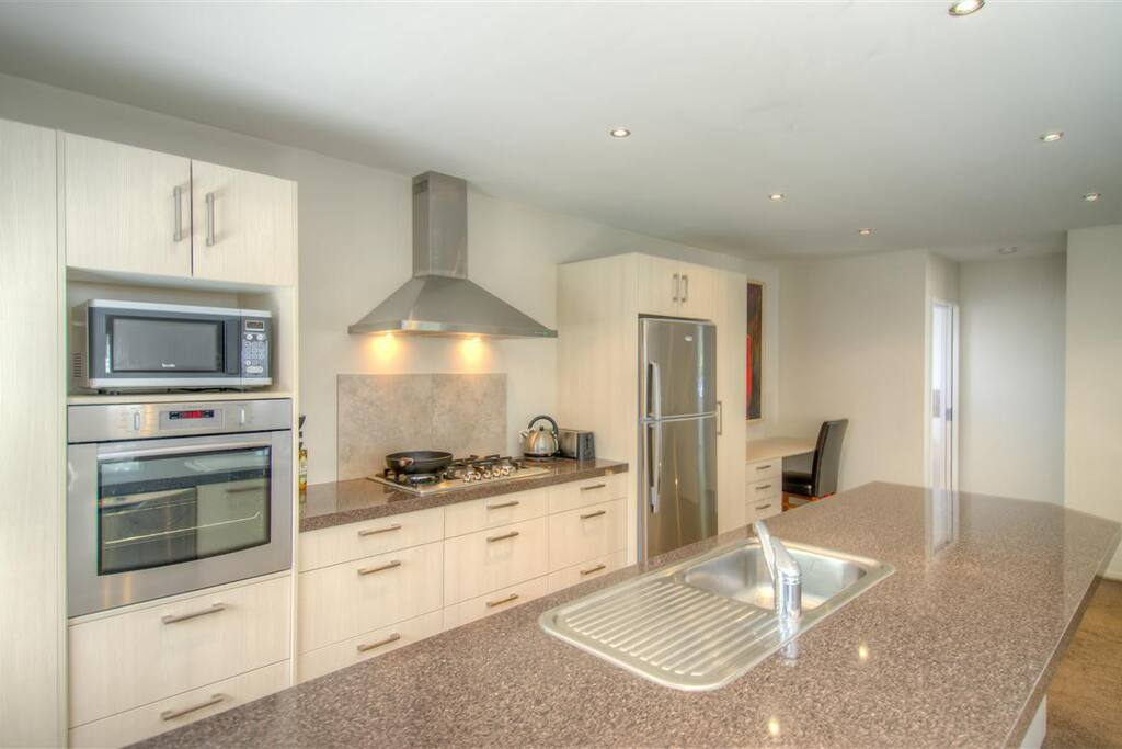 Fully equipped kitchen for cooking at home