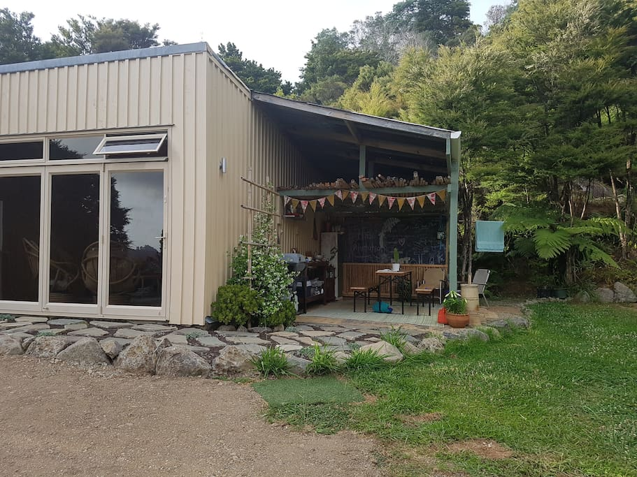Cabin and outdoor kitchen / dining area
