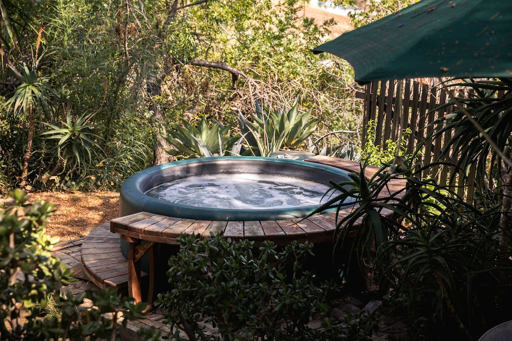 Our hot tub is the perfect way to relax after running around LA