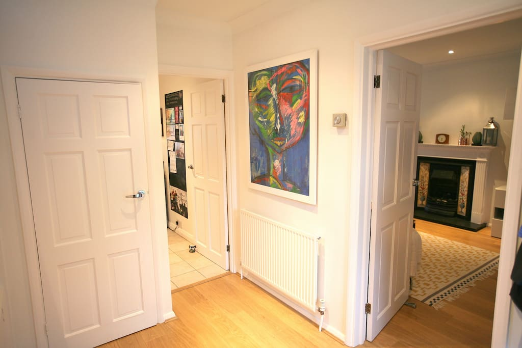 Large spaced entrance area with downstairs toilet