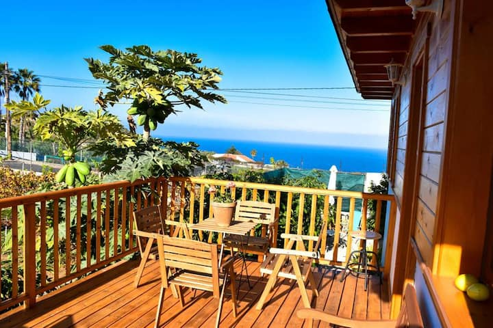 House with 2 bedrooms in Icod de los Vinos, with wonderful sea view, enclosed garden and WiFi - 2 km from the beach