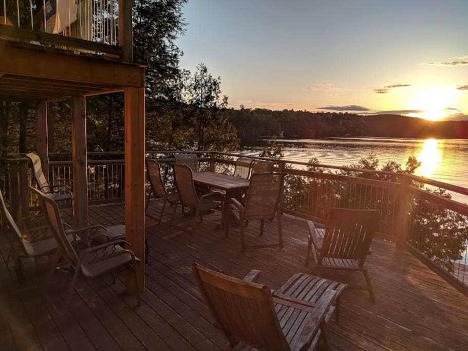 Lower deck at sunset