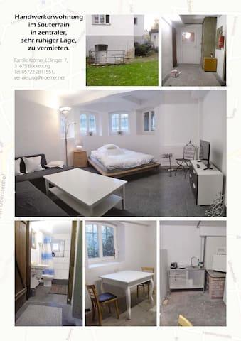 kleines Zimmer im Souterrain - Bückeburg - Apartment